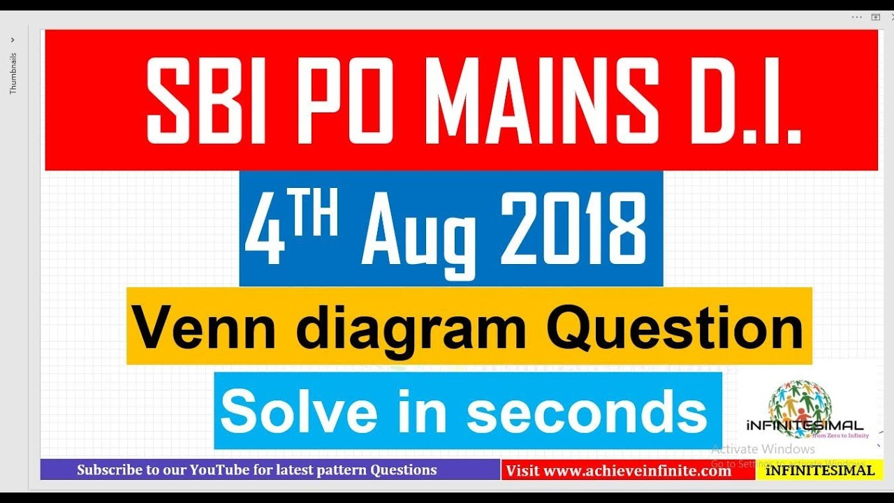 Venn diagram based di asked in sbi po mains 2018 4th august venn diagram based di asked in sbi po mains 2018 4th august ccuart Choice Image