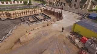Армирование фундаментной плиты. Reinforcing of a base plate.(Официальное видео. Проектирование: АПМ