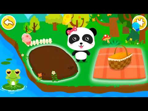 Baby Panda Learns Transport Occupations Natural Seasons - Fun Games for Kids and Educational