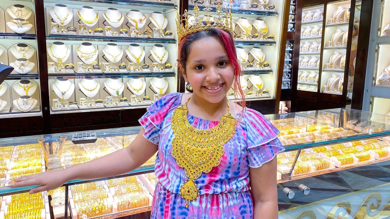 شفا راحت أكبر  سوق الذهب في العالم !!  biggest Dubai Gold market