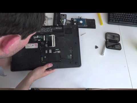 ноутбук HP G72 разборка чистка от пыли