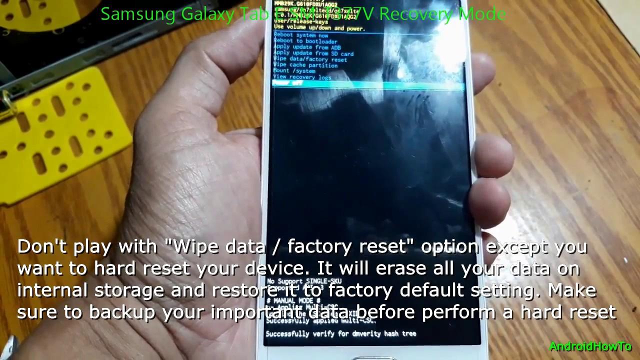 Samsung Galaxy Tab E SM-T377V Recovery Mode