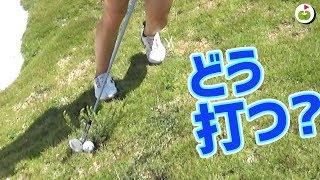 超難度!草の根元のボールはどう打つの?【じゅんりさ セブゴルフ!#3】 thumbnail