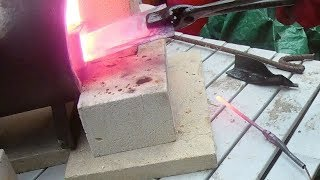 First Stainless Steel Knife - 1-  Preparing the Blank & Heat Treatment