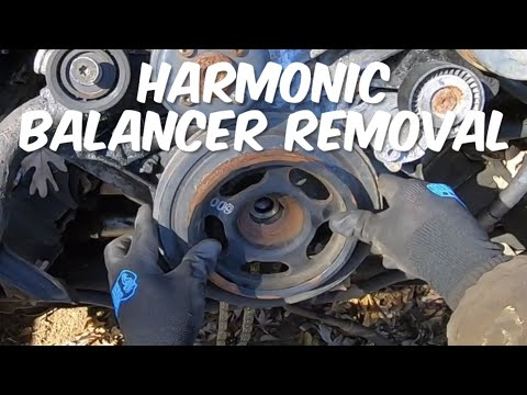 How To Remove The Harmonic Balancer Without The Puller Tool On T1N Mercedes Sprinter