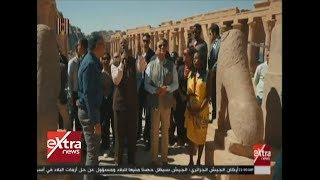 الرئيس السيسي يقوم بجولة في معبد فيلة بأسوان بصحبة مجموعة من الشباب العربي والإفريقي Video