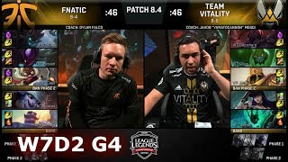 Video Fnatic vs Vitality | Week 7 Day 2 of S8 EU LCS Spring 2018 | FNC vs VIT W7D2 G4 download MP3, 3GP, MP4, WEBM, AVI, FLV Juni 2018