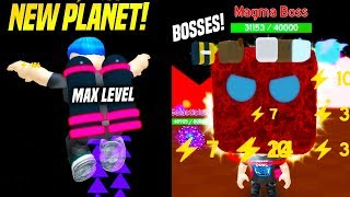 I GOT The MAX LEVEL JETPACK ON THE NEW PLANET AND DEFEATED A BOSS in JETPACK SIMULATOR! (Roblox)