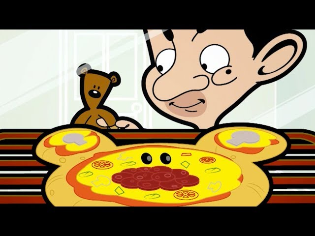 Mr Bean and the pizza