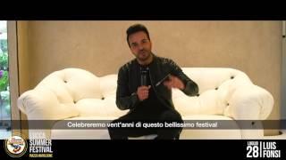 Luis Fonsi invita i fan al Lucca Summer Festival!