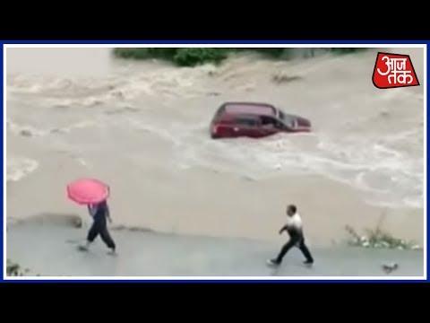 Flash-Flood Washes Away Car In Uttarakhand's Mighty Gandak River