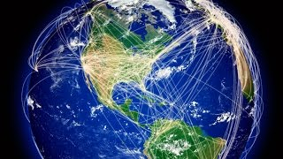 How air transportation connects the world