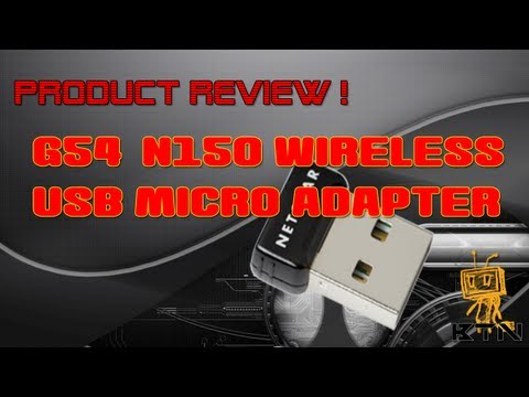 Product Review! - NetGear G54/N150 Wireless USB Micro Adapter WNA1000M - 동영상
