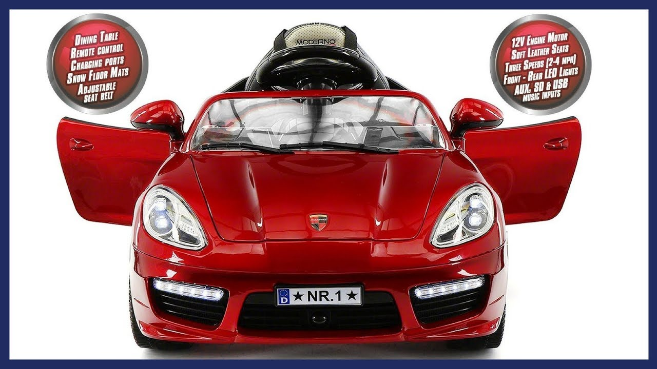 12eaa6047e6 2018 Porsche Boxster Style 12V Kids Ride On Car Battery Powered Wheels