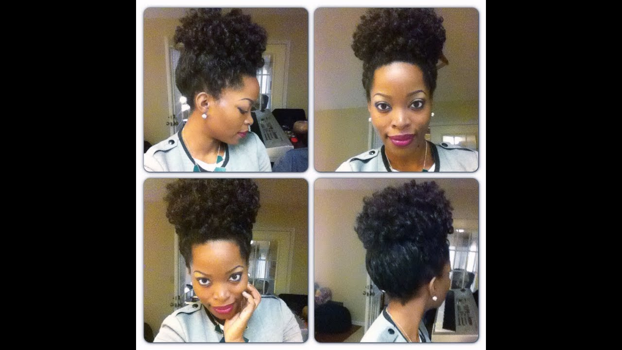 Crochet Braids Bun Styles : How to do a high puff: Crochet Braids Curly ~ CURLED DOING A ROD SET ...
