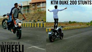 KTM DUKE200 STUNTS