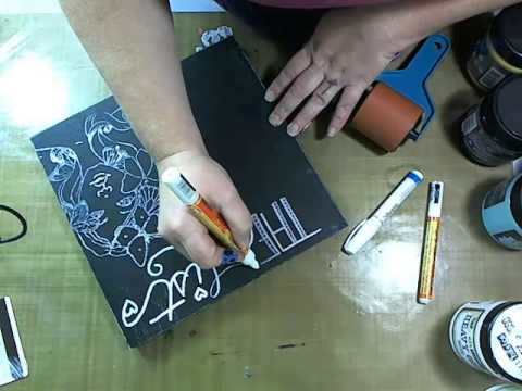 Bloom Girl chalkboard with Jamie Dougherty