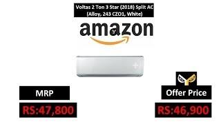 Voltas 2 Ton 3 Star (2018) Split AC (Alloy, 243 CZO1, White)