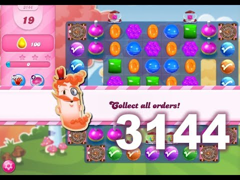Candy Crush Saga Level 3144 (3 stars, No boosters)