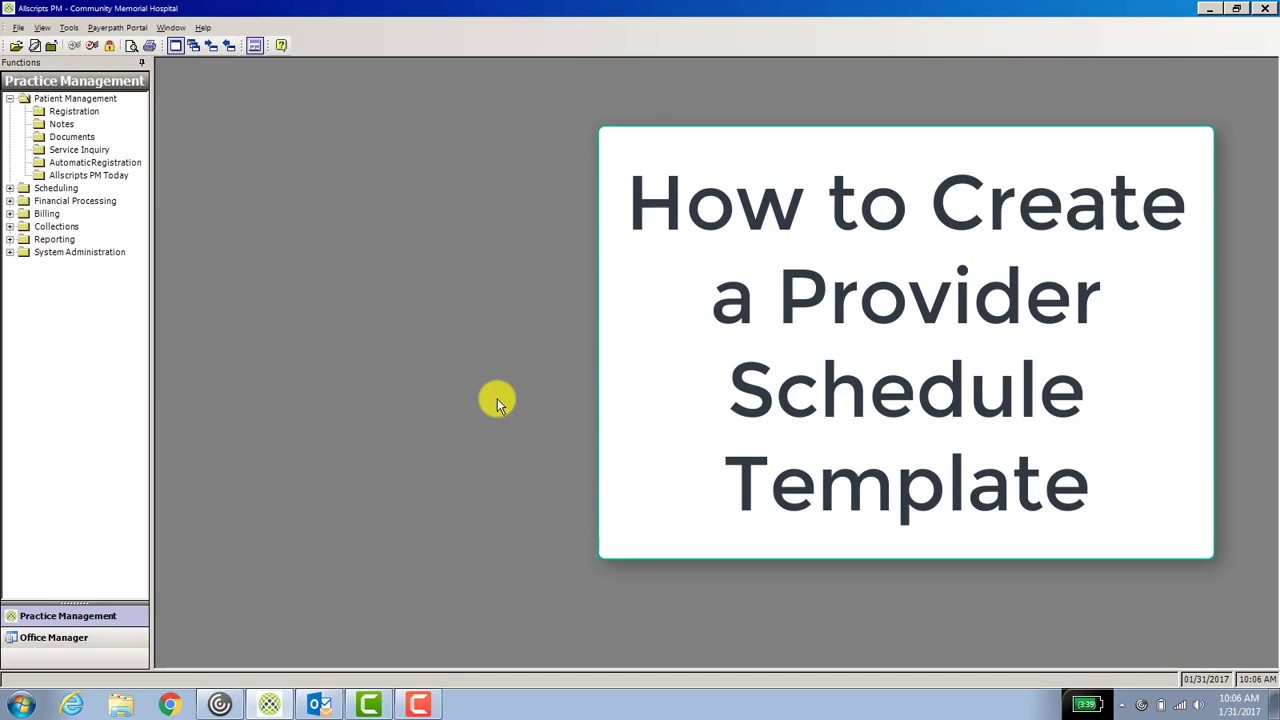 How to Create a Provider Schedule Template - YouTube