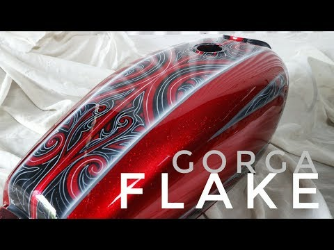 Custom painting metal flake  with gorga batak ornament
