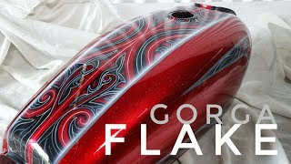 Custom painting metal flake  with gorga batak ornament