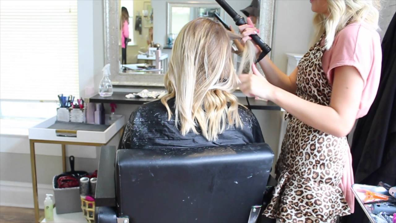 Blonde Balayage Long To Short Haircut Youtube