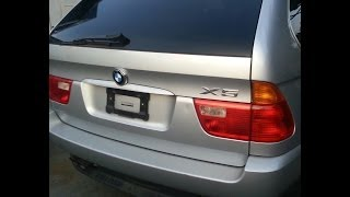 Bmw E53 X5 Rear Lift Glass Tail Gate Door Removal