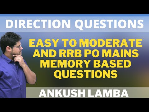 DIRECTION QUESTIONS    RRB PO MAINS DIRECTION QUESTION    SOLVE WITH ACCURACY