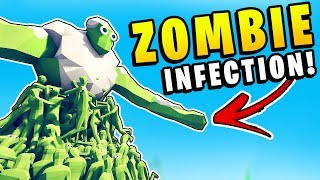TABS - ZOMBIES CAN INFECT! Zombie Infection Plague Spreading - Totally Accurate Battle Simulator