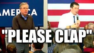 """Cringe: Pete Buttigieg Has His """"Please Clap"""" Moment, Channeling Jeb Bush"""