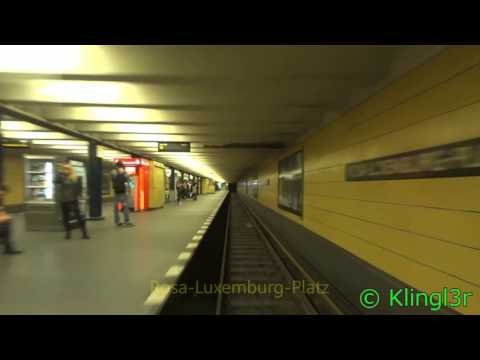 U-Bahn Berlin - Führerstandsmitfahrt Pankow - Gleisdreieck U2