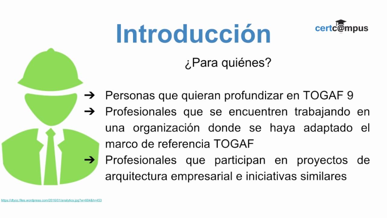 Introduccin al curso togaf 91 certified youtube introduccin al curso togaf 91 certified xflitez Gallery