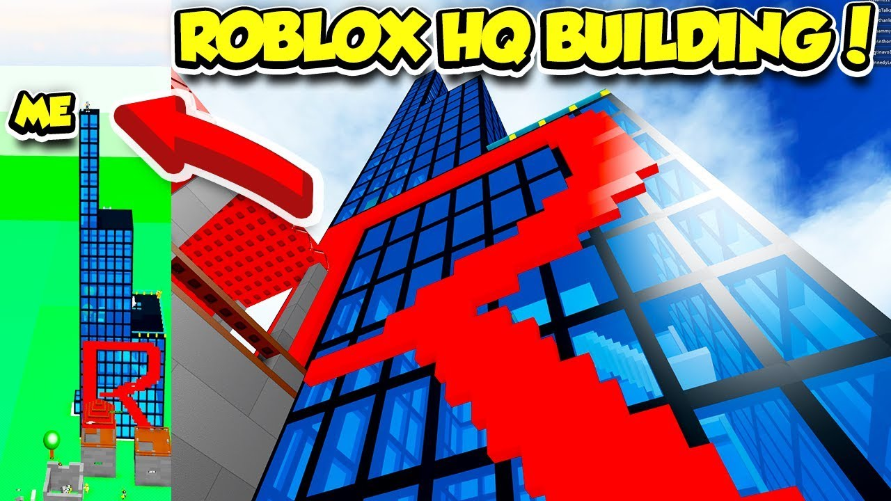 Building The Roblox Hq In Building Simulator Insanely Huge