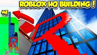 BUILDING THE ROBLOX HQ IN BUILDING SIMULATOR!! *INSANELY HUGE* (Roblox)