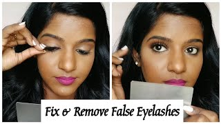 How To Fix & Remove False Eyelashes💖