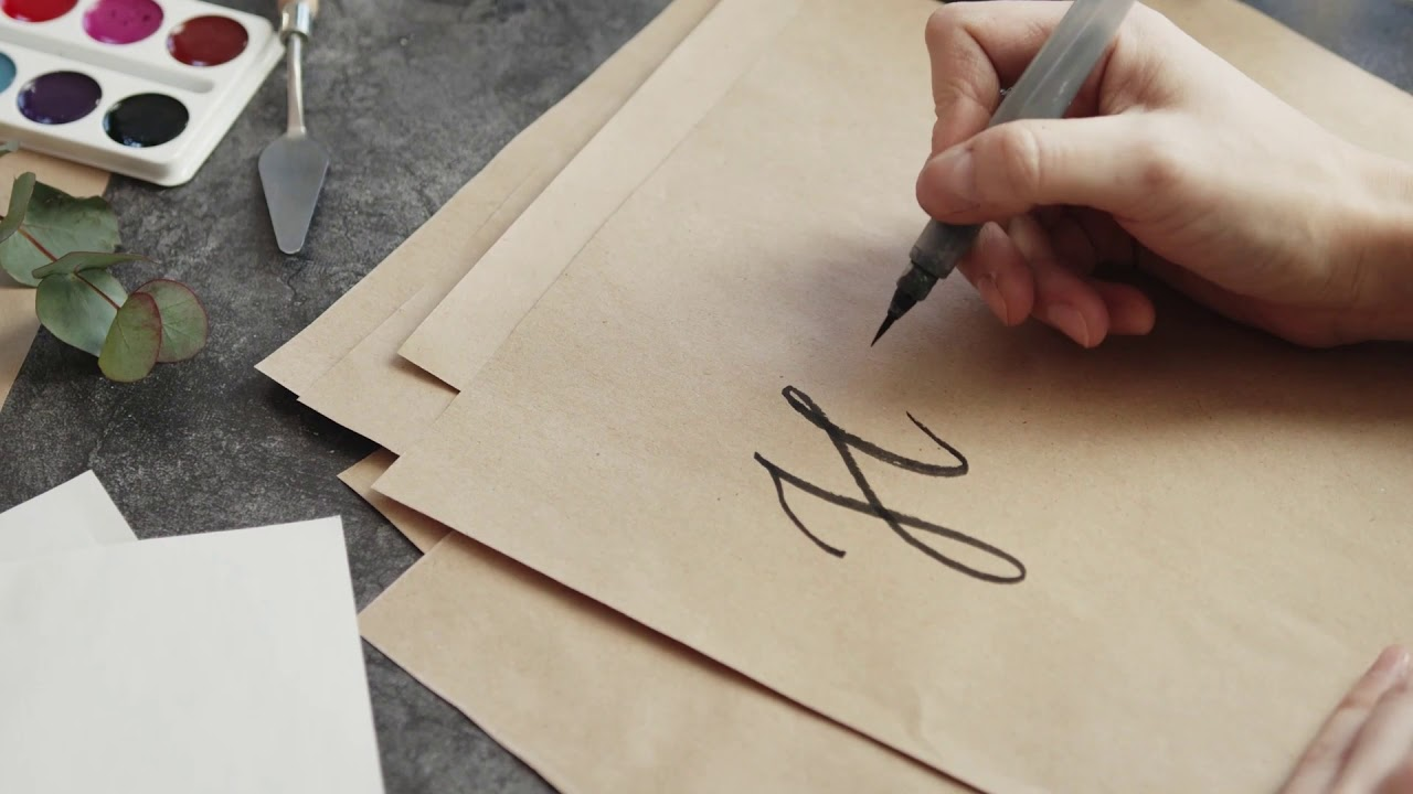 Inspiration Qoutes In Writing With Hand Writing A Message In Caligraphy