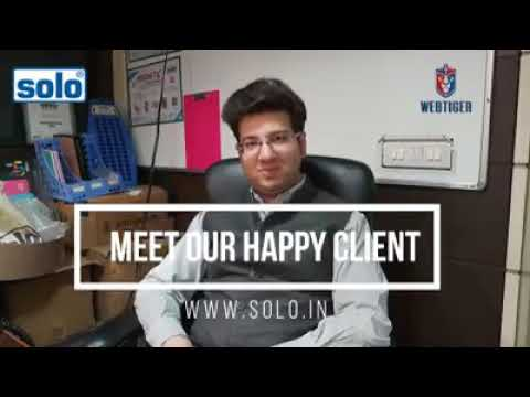 Solo Stationery Mr. Ashutosh Gupta Director - Solo sharing his view about WebTiger Product