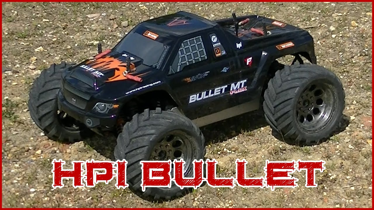 HPI Bullet ST Flux custom painted body shell and slow mo take off