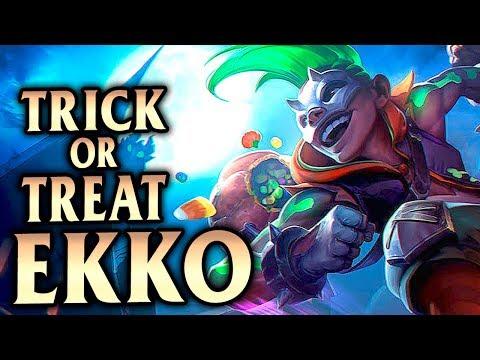New Halloween Skin Trick or Treat Ekko! How to Ekko Jungle! - League of Legends S8