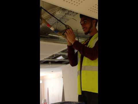 Apprentice Electrician Cuts Cable Tray funny