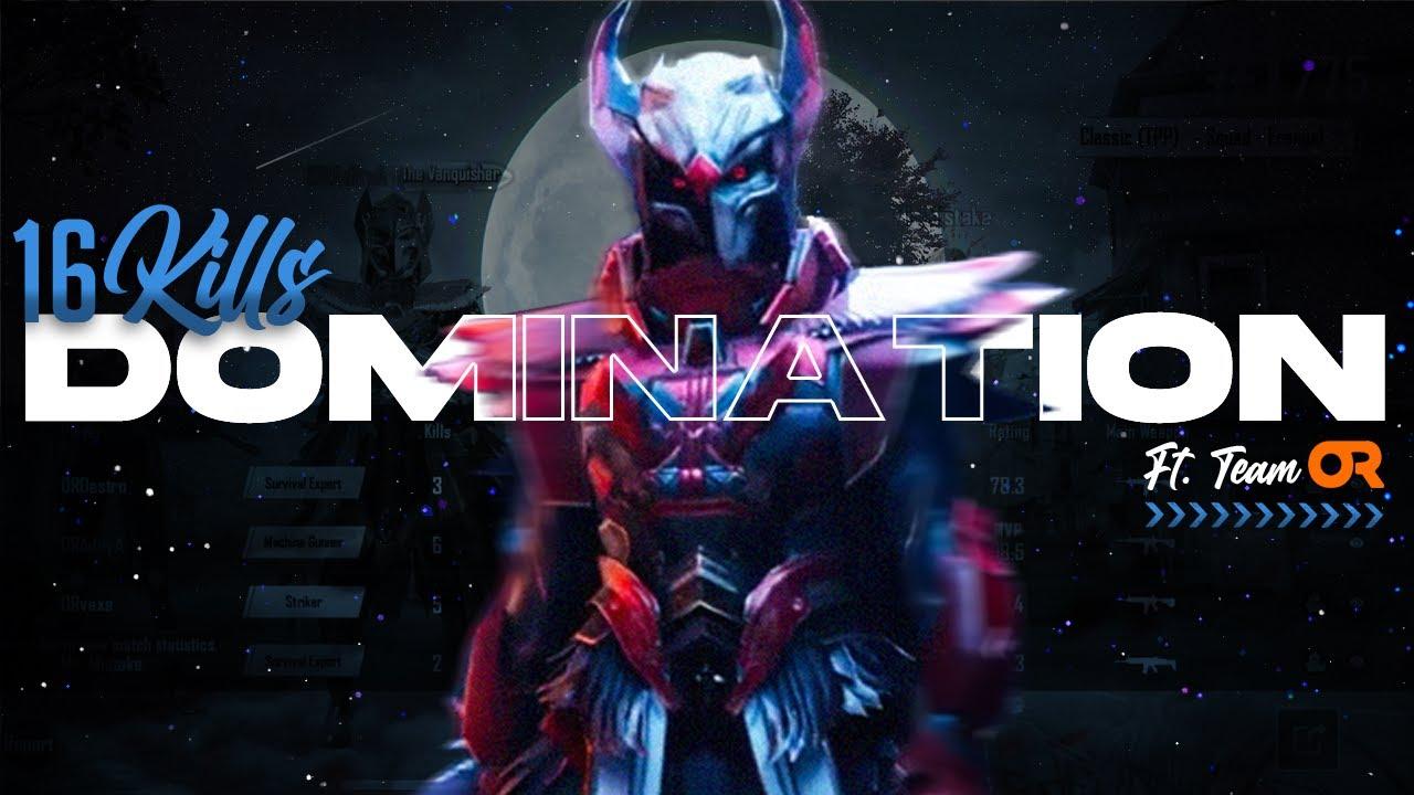 OR 16 Kills Domination in Scrims || 6 Solo kills || #PUBGMobile