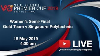 Volleyball Semi-Final: GOLD Team v Singapore Polytechnic | NEO Group VAS Premier Cup Series 2