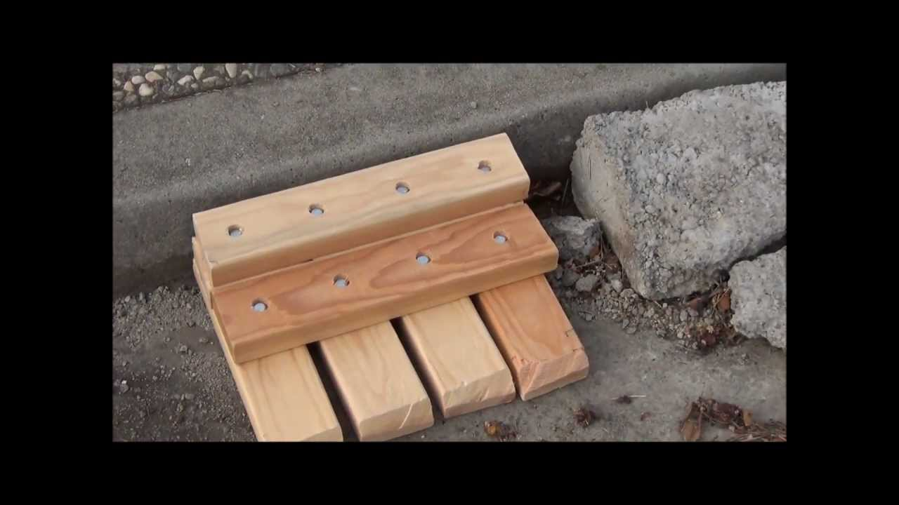 Diy Curb Ramp For Cars Youtube