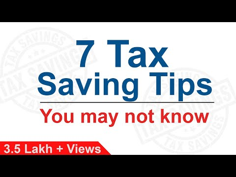 7 Tax Saving Tips you may not know | How to Save Tax | Lesser Known Tax Saving Options by Yadnya