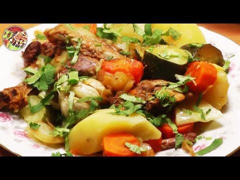 Утка тушёная с овощами. Просто, вкусно, недорого.