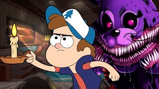 Диппер Спасается от Аниматроника в Гравити Фолз Майнкрафт Выживание и Ужасы ФНАФ Видео Minecraft