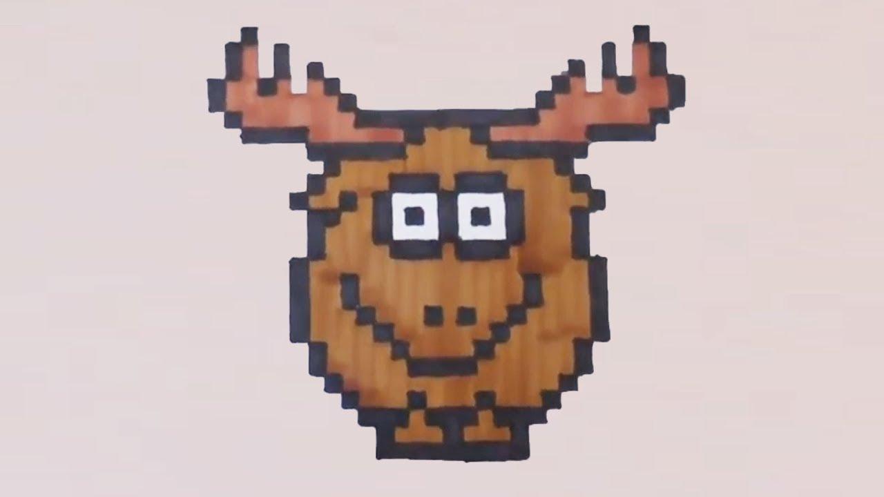 Comment dessiner un cerf pixel art youtube - Dessiner un cerf ...