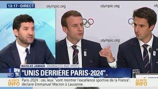 Paris 2024: Emmanuel Macron évoque une participation de l'Etat
