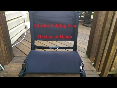 Ohuhu Steel Folding Stadium Chair - Supports up to 400 lbs